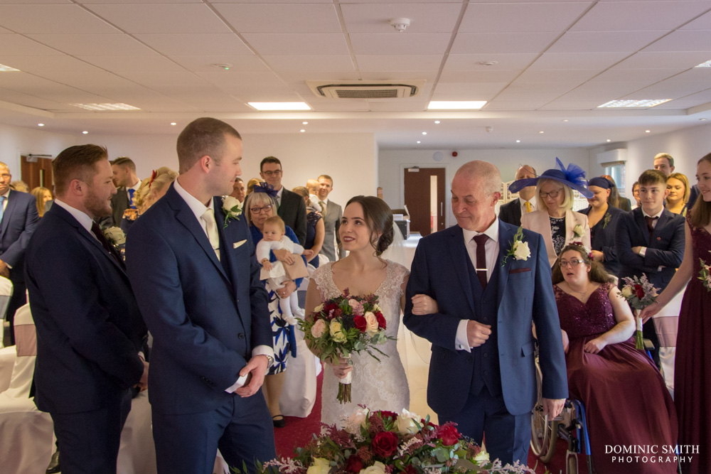Wedding ceremony at Hickstead Hotel 1