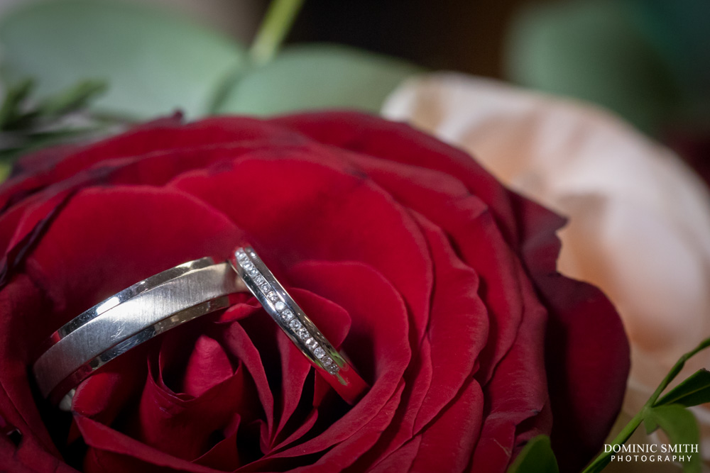 Wedding ring photo take at Hickstead Hotel