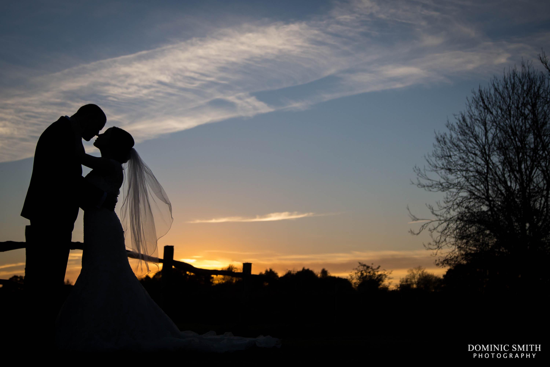 Hickstead Hotel Sunset Wedding Photo