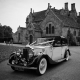 Vintage Wedding Car at Wakehurst Place