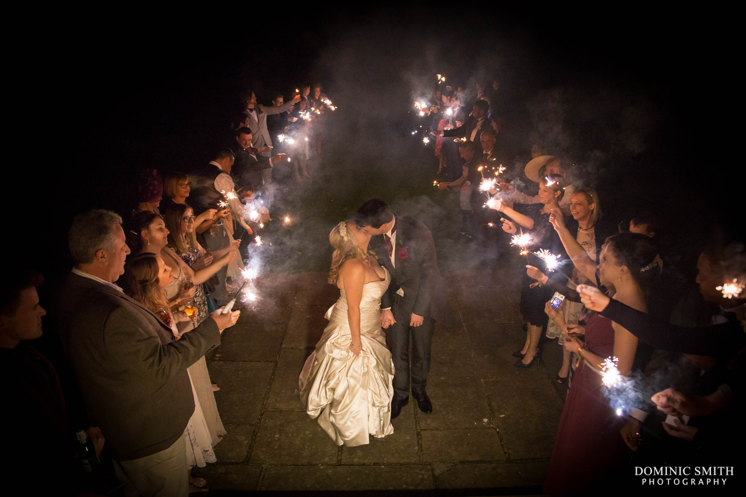 Wedding Sparkler Photo at Buxted Park Hotel