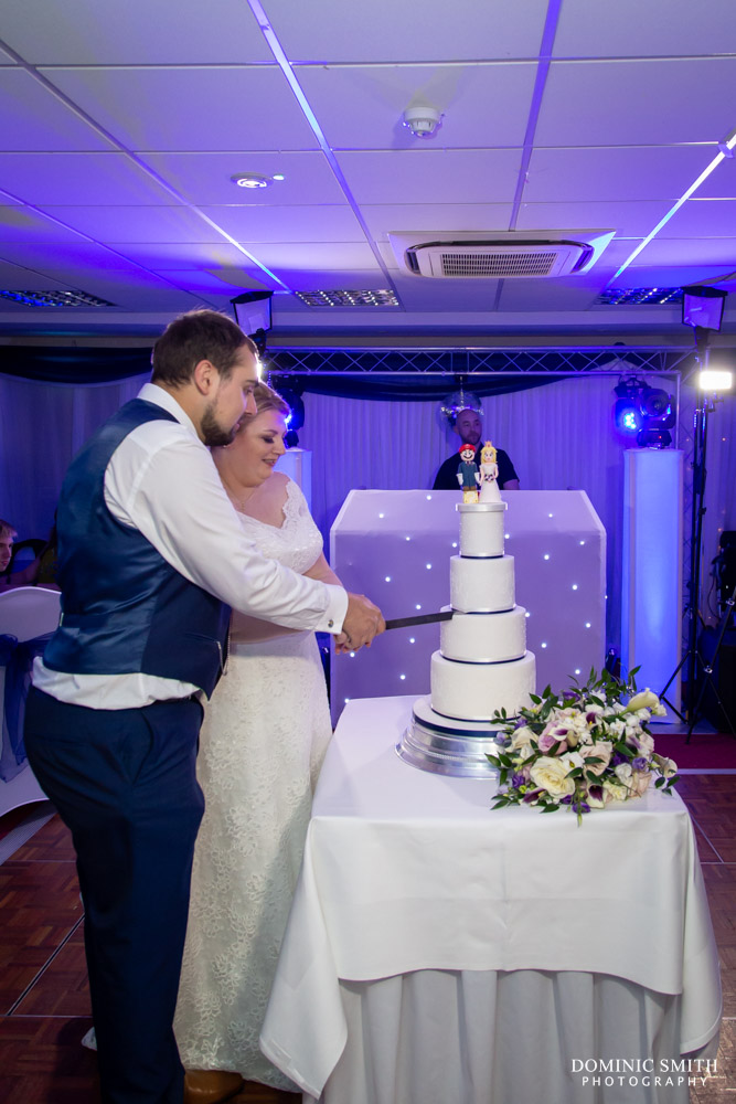 Cutting the cake at Hickstead Hotel