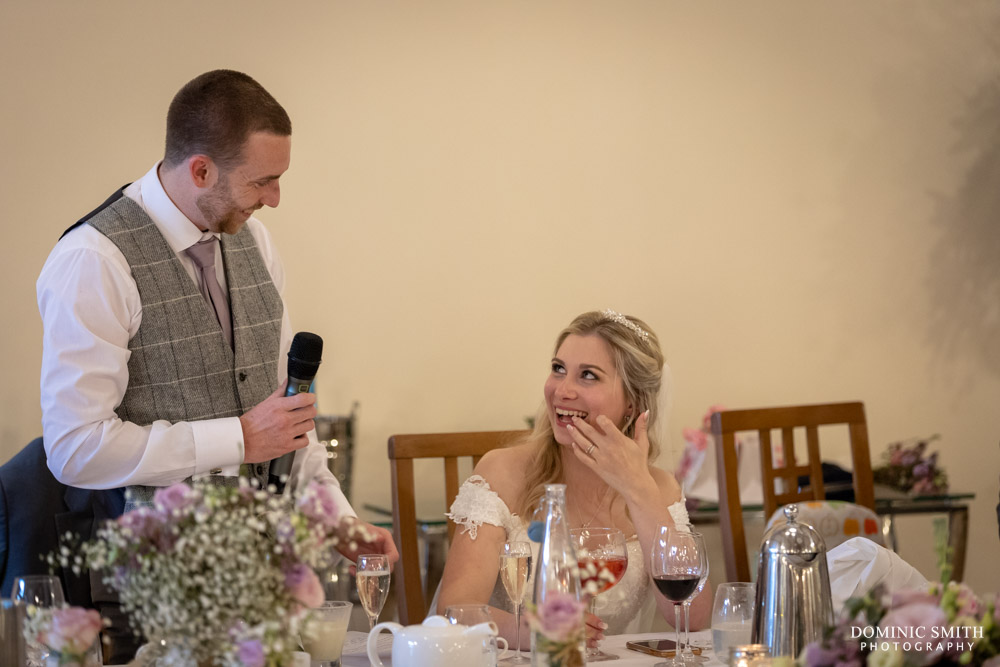 Grooms Speech at Rivervale Barn
