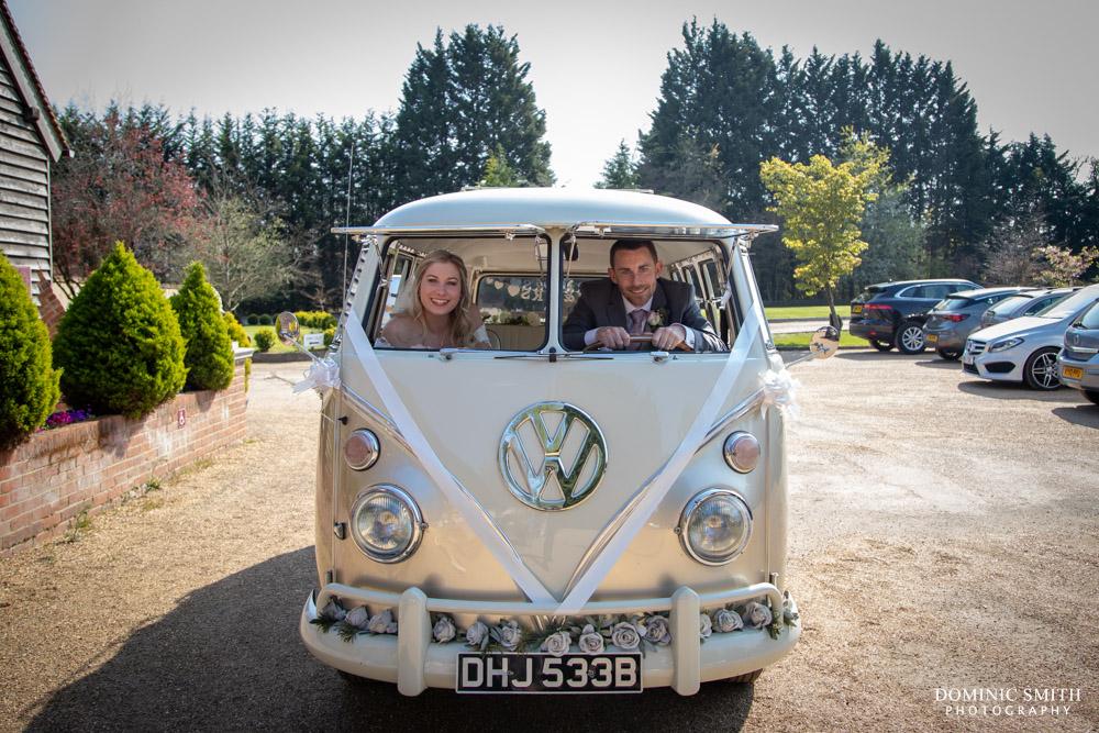 Vintage Campervan at Rivervale Barn Wedding