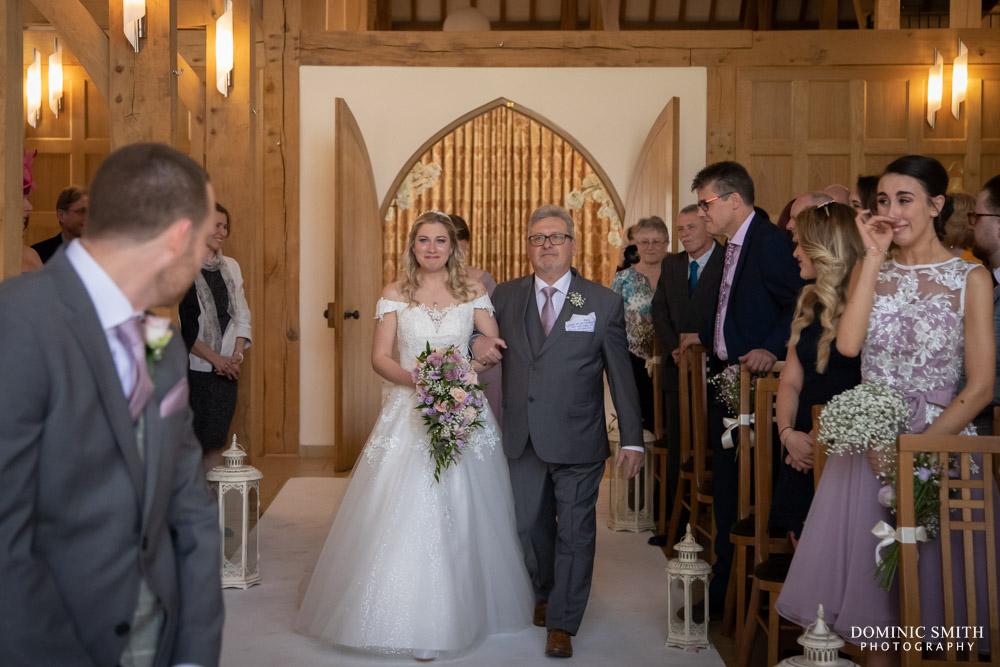 Wedding Ceremony at Rivervale Barn