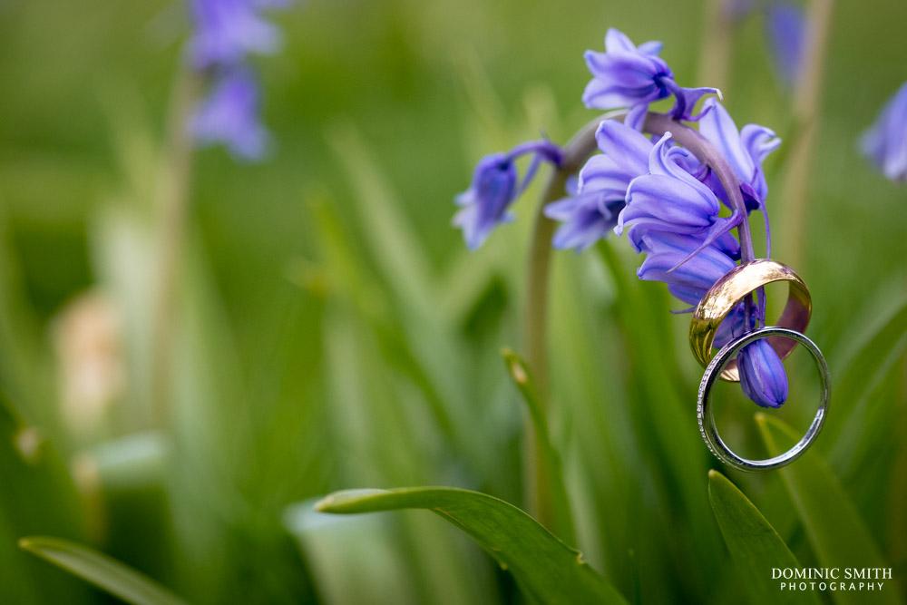 Wedding rings on Bluebells
