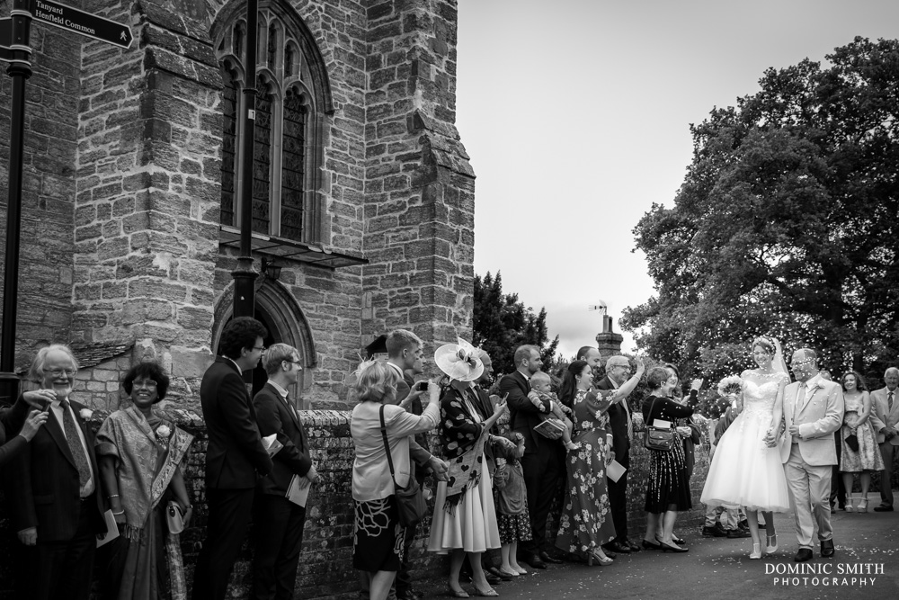 Confetti Photo at St Peters Church Henfield