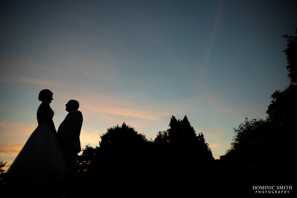 Sunset Wedding Photo at Cisswood House
