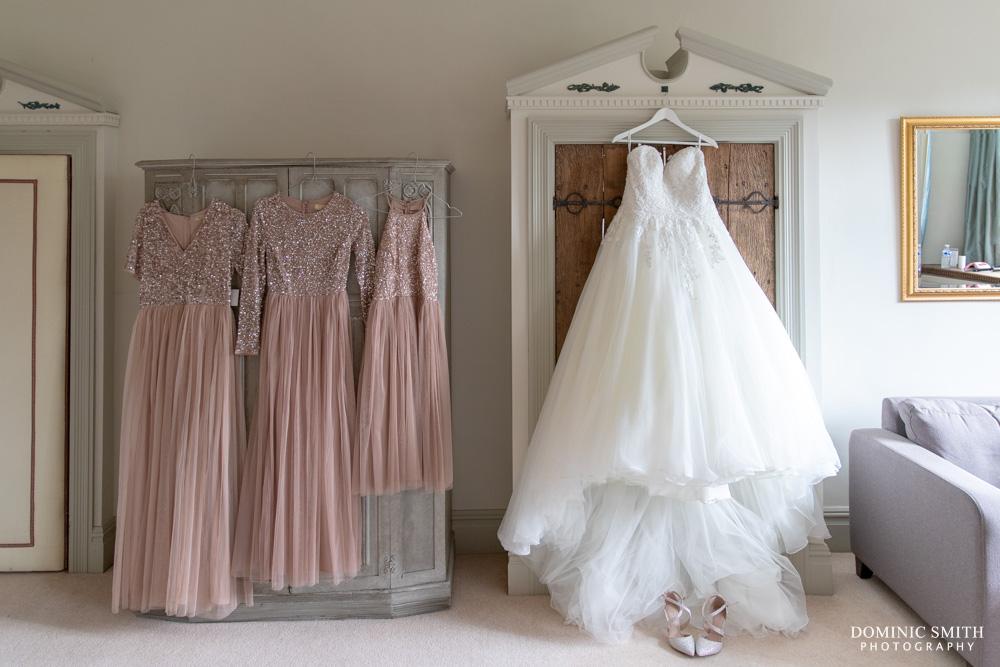 Wedding Dress Hanging at Smallfield Place
