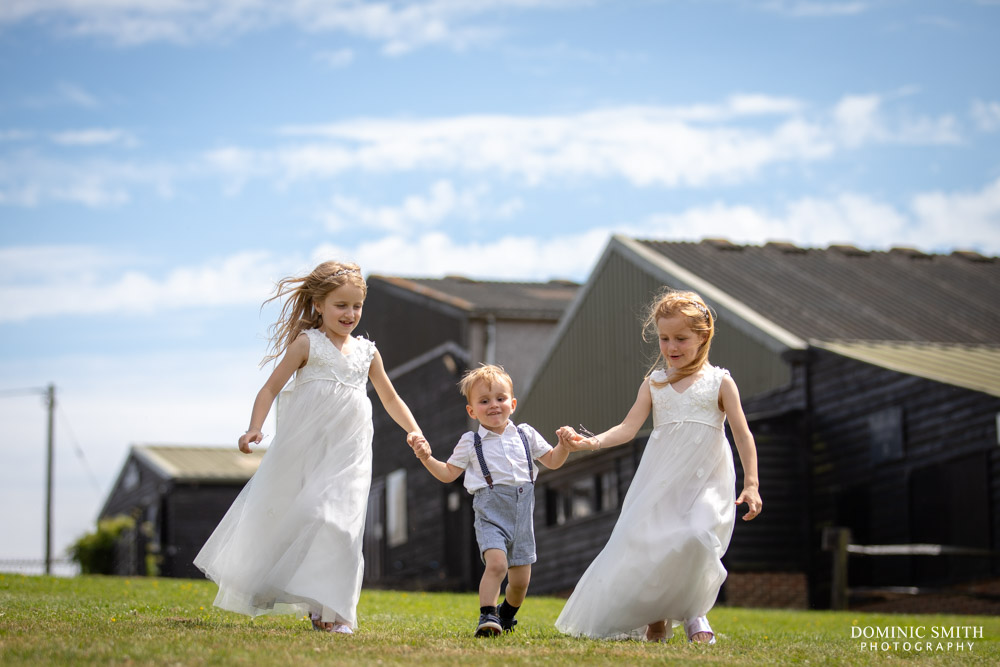 Bridesmaids and Paige Boy playing at Blackstock Country Estate
