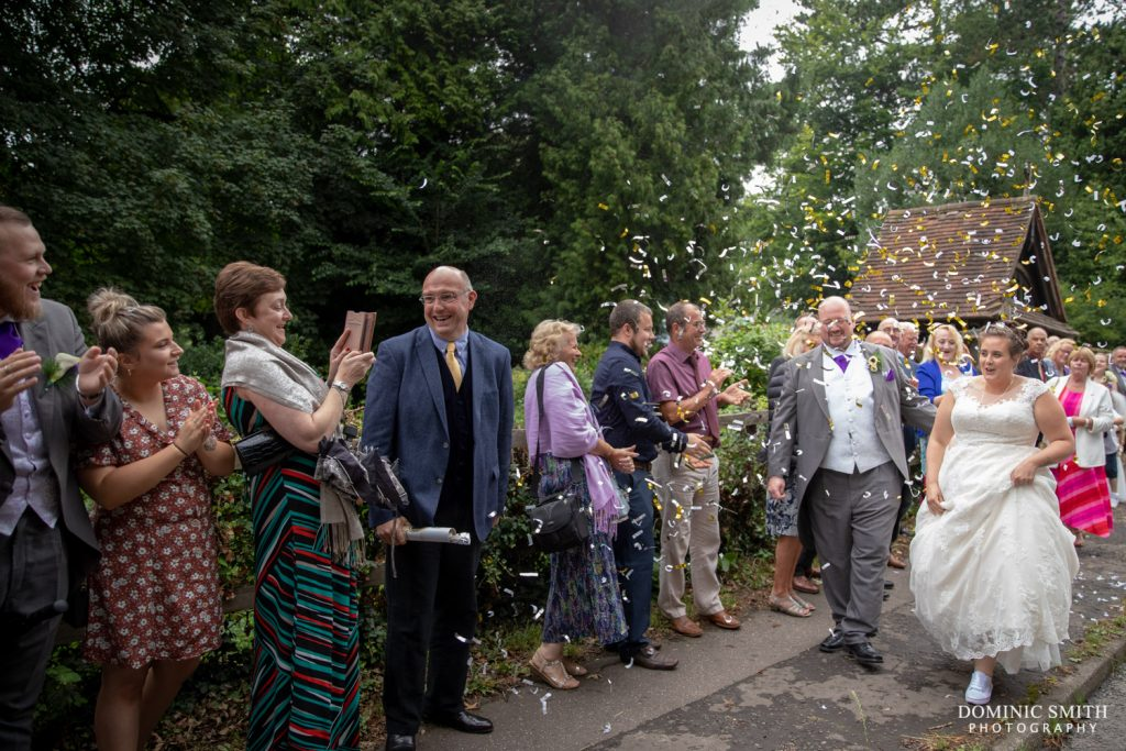 Confetti Photo at St Katherines Merstham