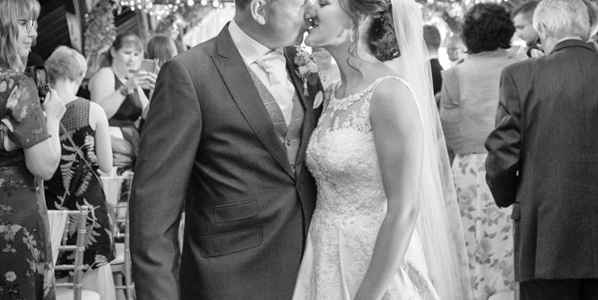 First Kiss at Blackstock Country Estate