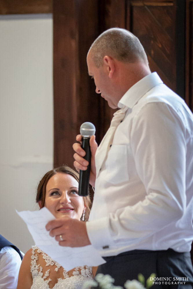 Grooms Speech at Blackstock Country Estate