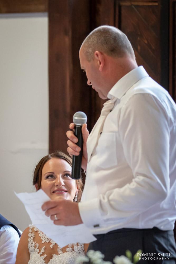 Grooms Speech at Blackstock Country Estate