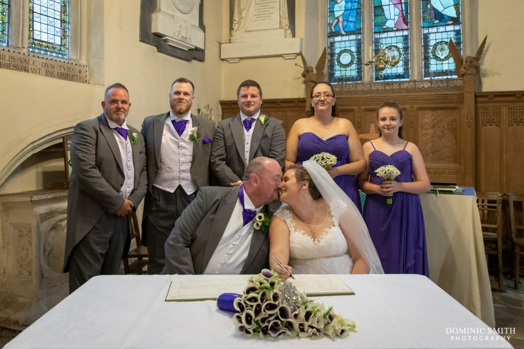Signing the Register at St Katherines, Merstham