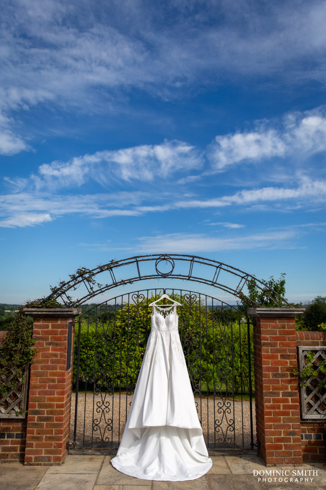 Wedding Dress Hanging at Blackstock Country Estate