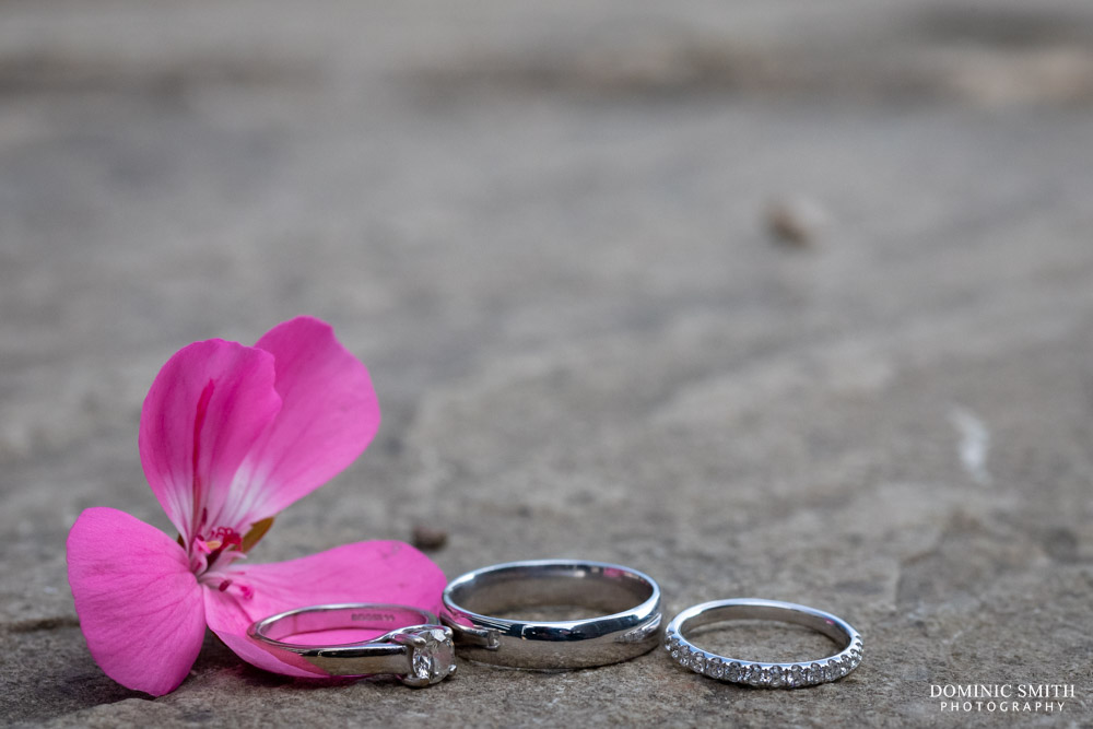 Wedding ring photo at Blackstock Country Estate