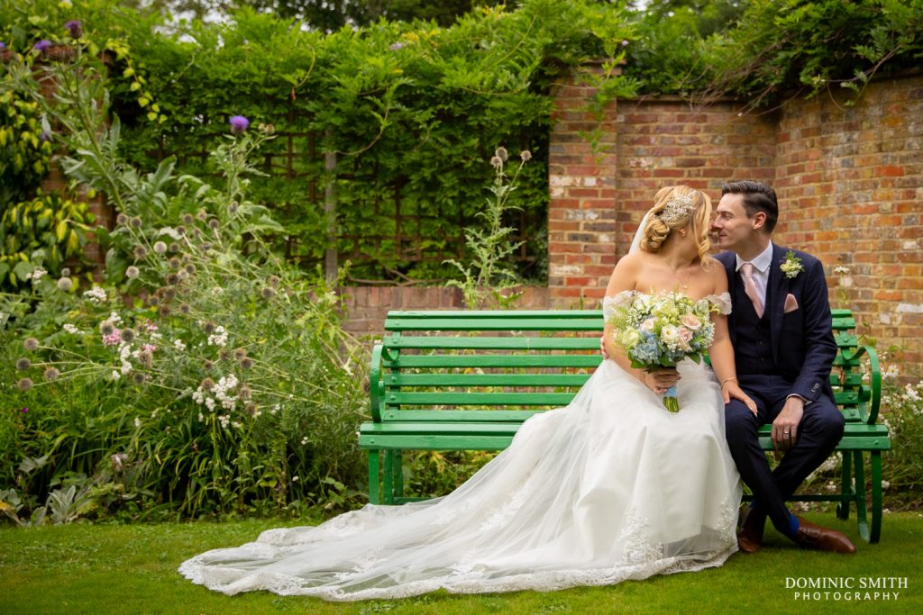 Bride and Groom at Langshott Manor 2