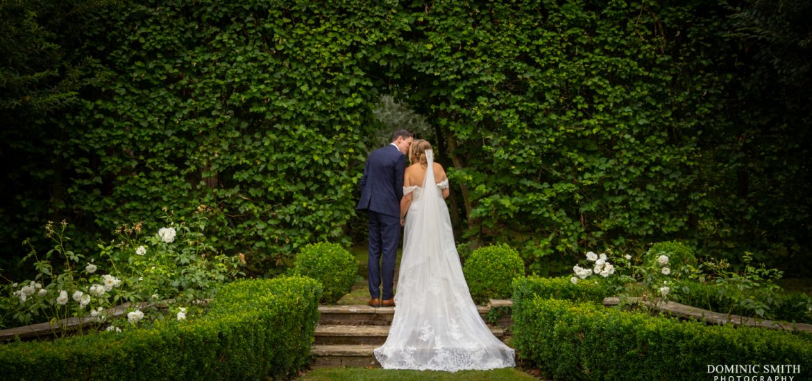 Bride and Groom at Langshott Manor 3
