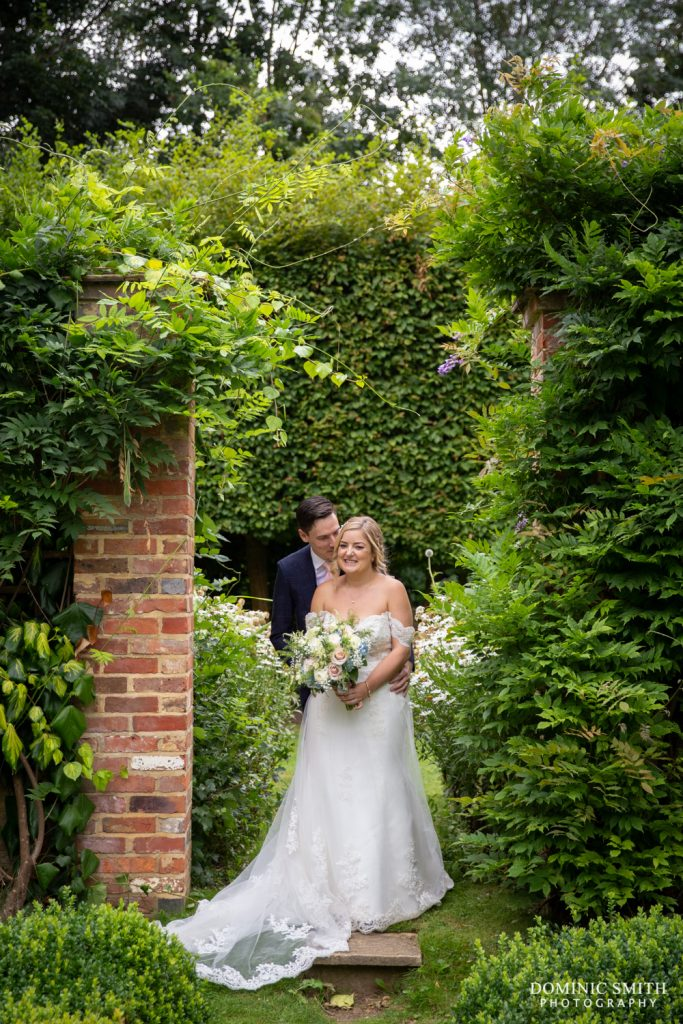 Bride and Groom at Langshott Manor 4
