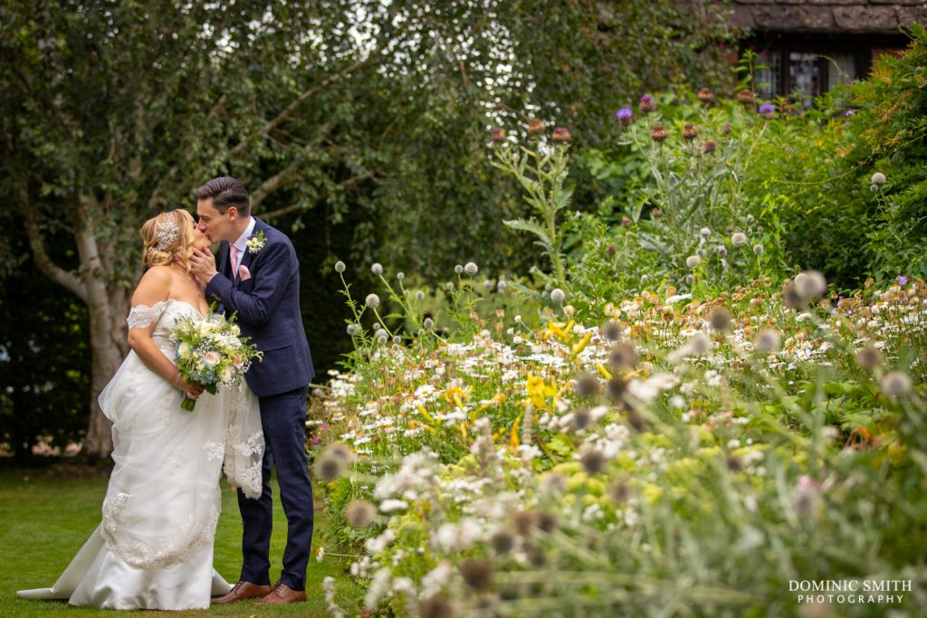 Bride and Groom at Langshott Manor 5