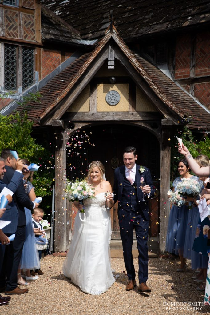 Confetti at Langshott Manor