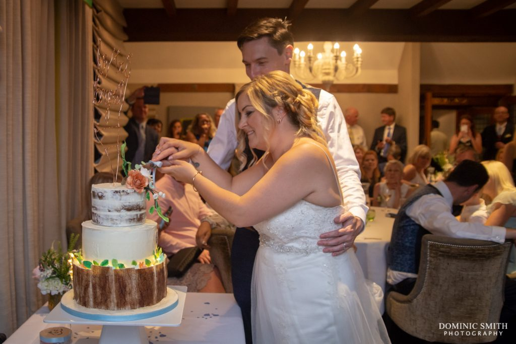 Cutting the Cake at Langshott Manor