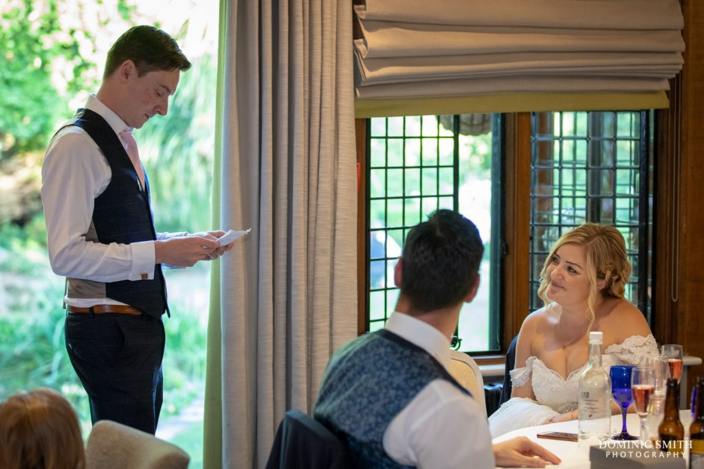 Grooms Speech at Langshott Manor
