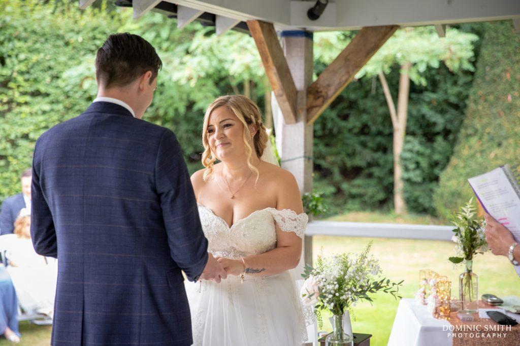 Wedding Ceremony 1 at Langshott Manor