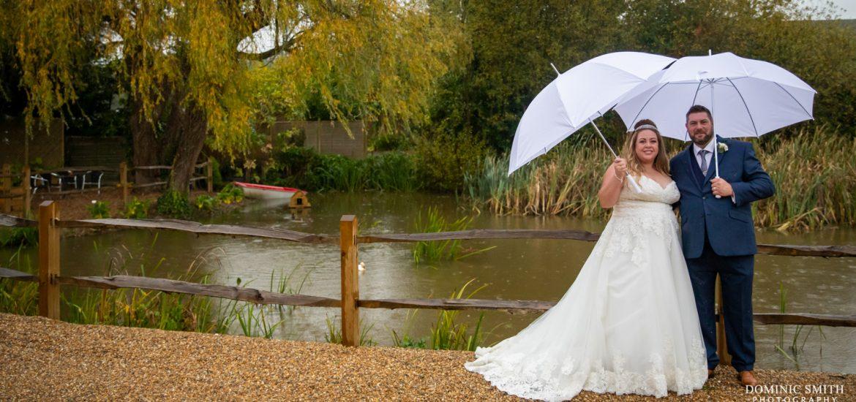 Rainy Day Couple Photo at Random Hall