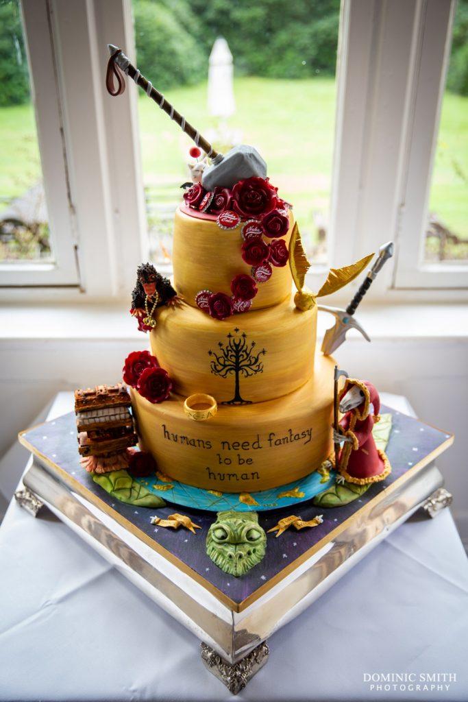 Terry Pratchett Themed Wedding Cake