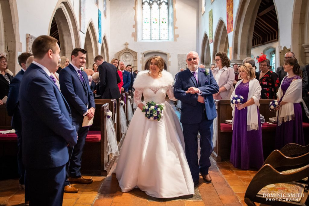Wedding Ceremony at St Michaels Church, Betchworth