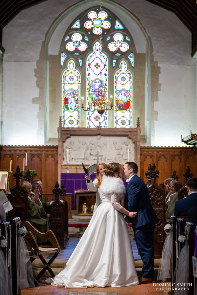First Kiss at St Michaels Church, Betchworth