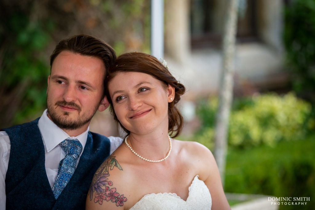 Couple During Speeches at Stanhill Court Hotel