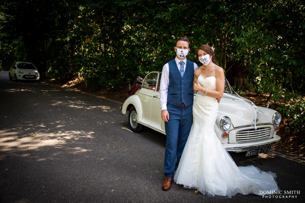Covid Safe Wedding Couple at Stanhill Court Hotel