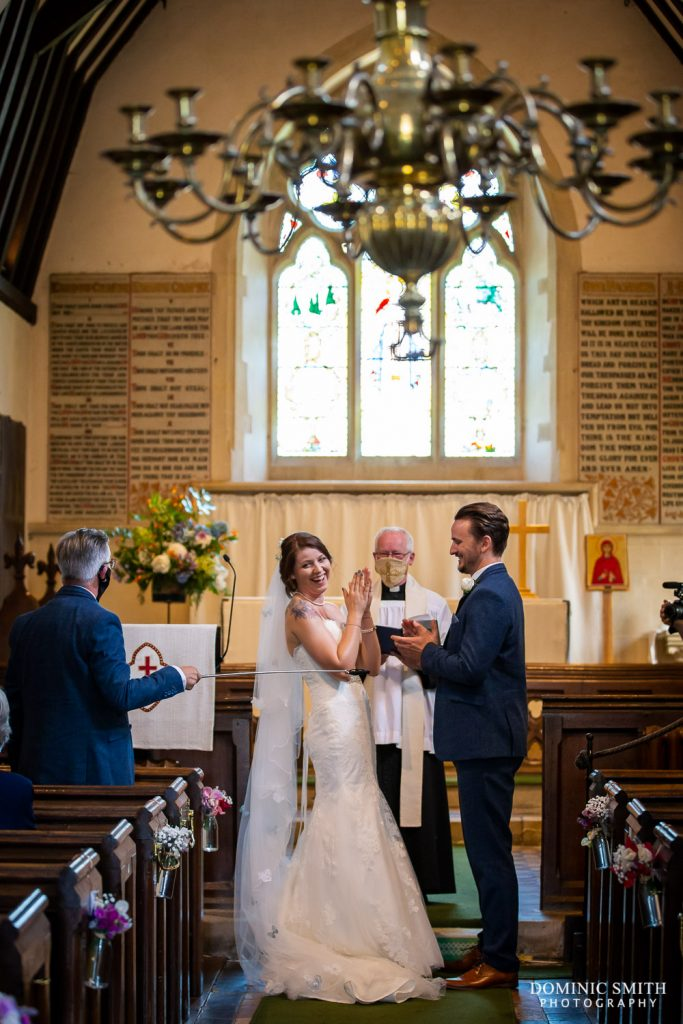 Covid Safe Wedding Rings at St Mary Magdalene C of E Church in Rusper