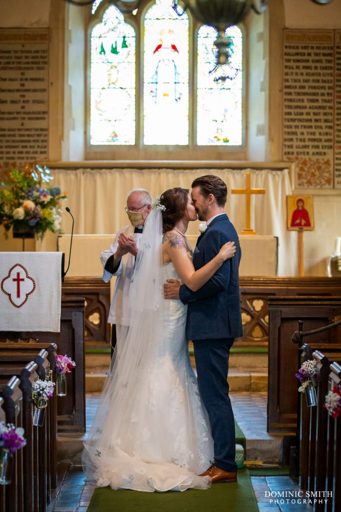 First Kiss at St Mary Magdalene C of E Church in Rusper