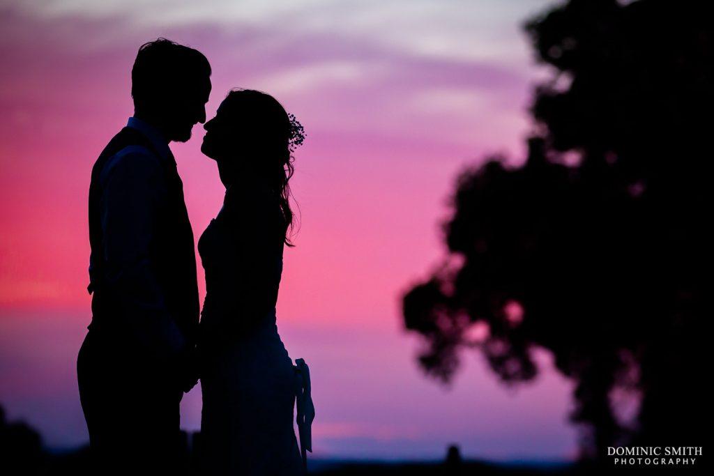 Pink Sunset at Stanhill Court Hotel Wedding