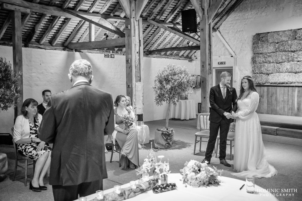 Wedding Ceremony at Pangdean Barn 1b