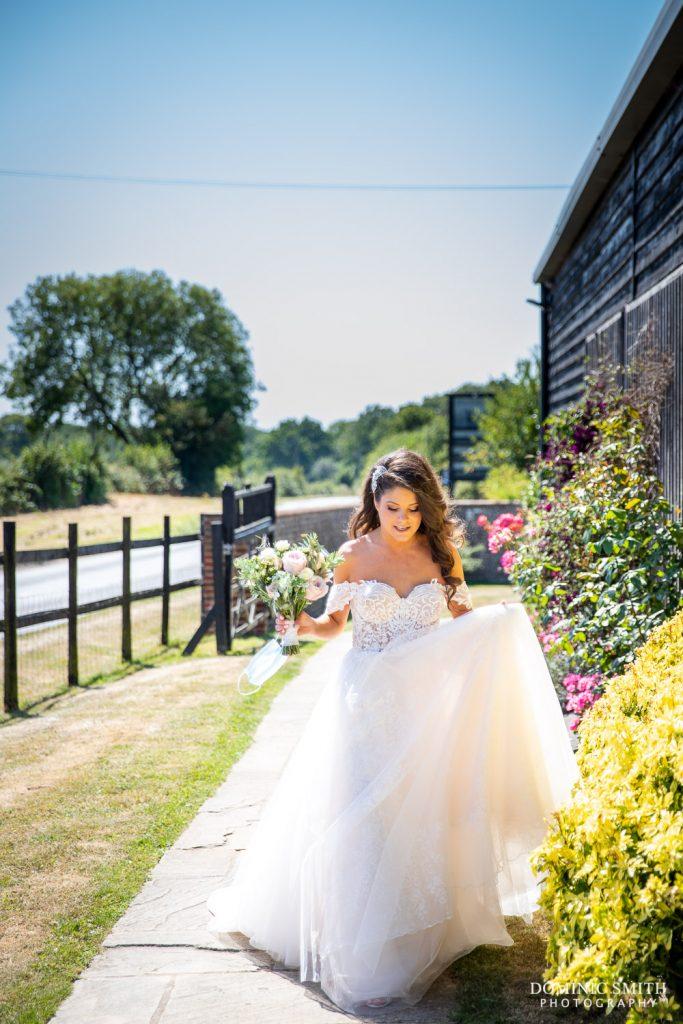 Bride arriving at Blackstock Country Estate