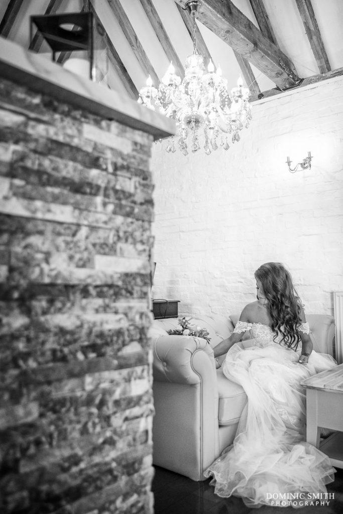 Bride waiting at Blackstock Country Estate
