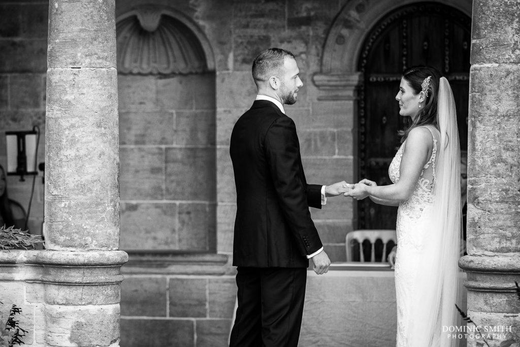 Exchanging Rings at Nymans Wedding