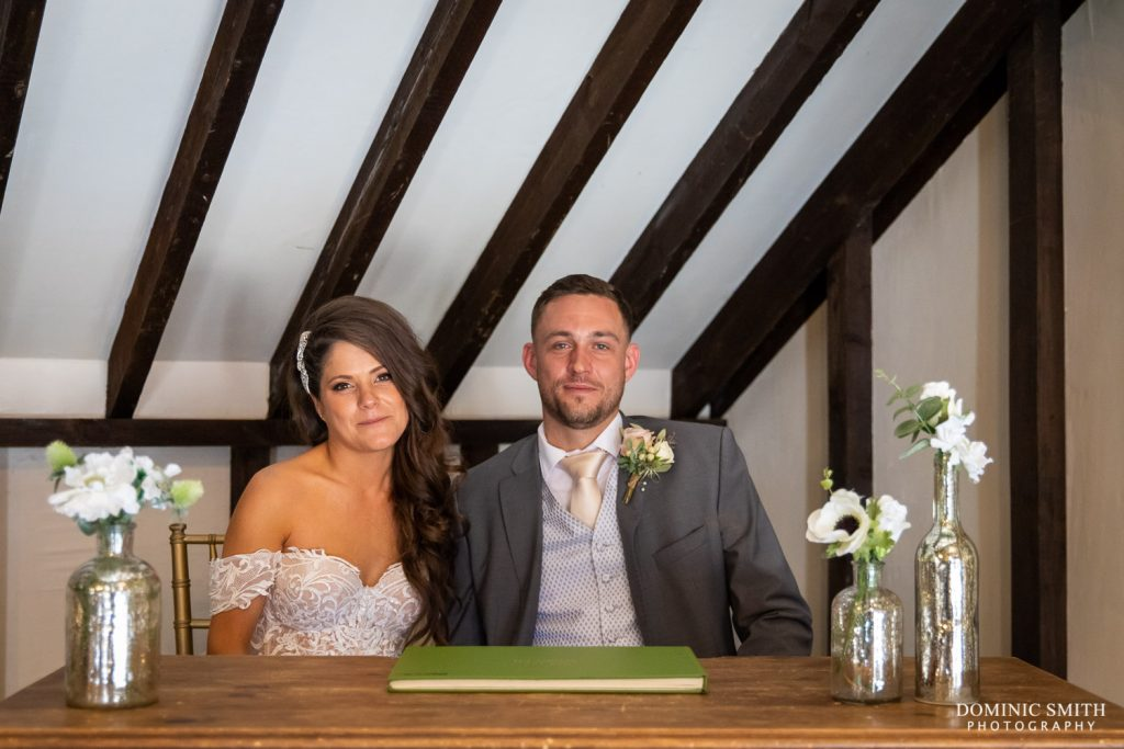 Signing the Register at Blackstock Country Estate