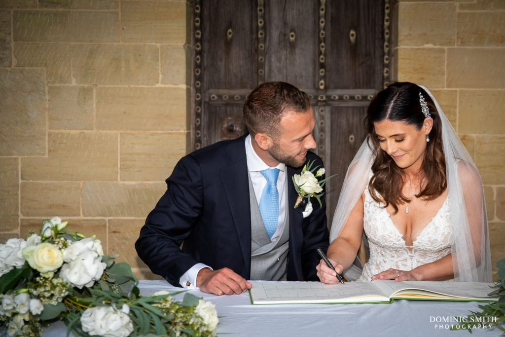 Signing the Register at Nymans
