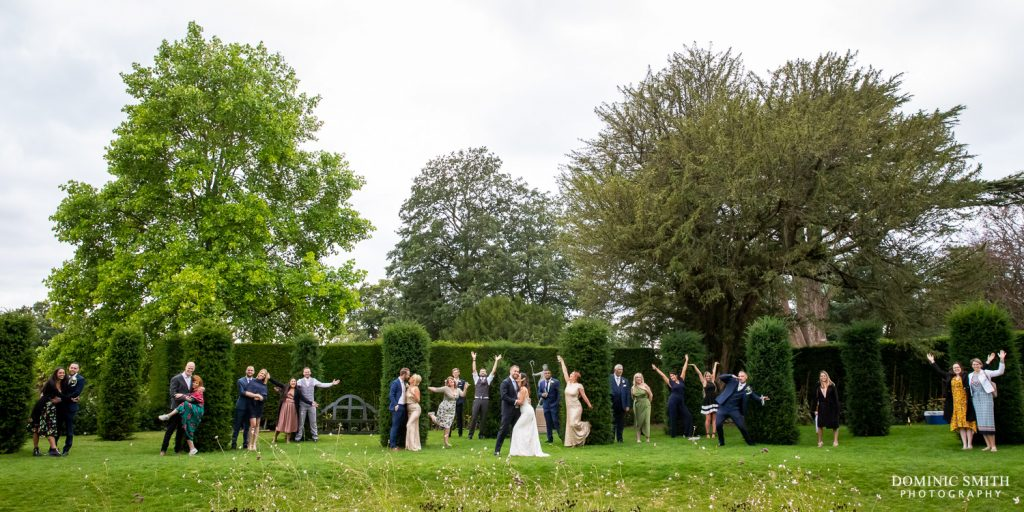 Socially Distanced Group Photo at Nymans Wedding