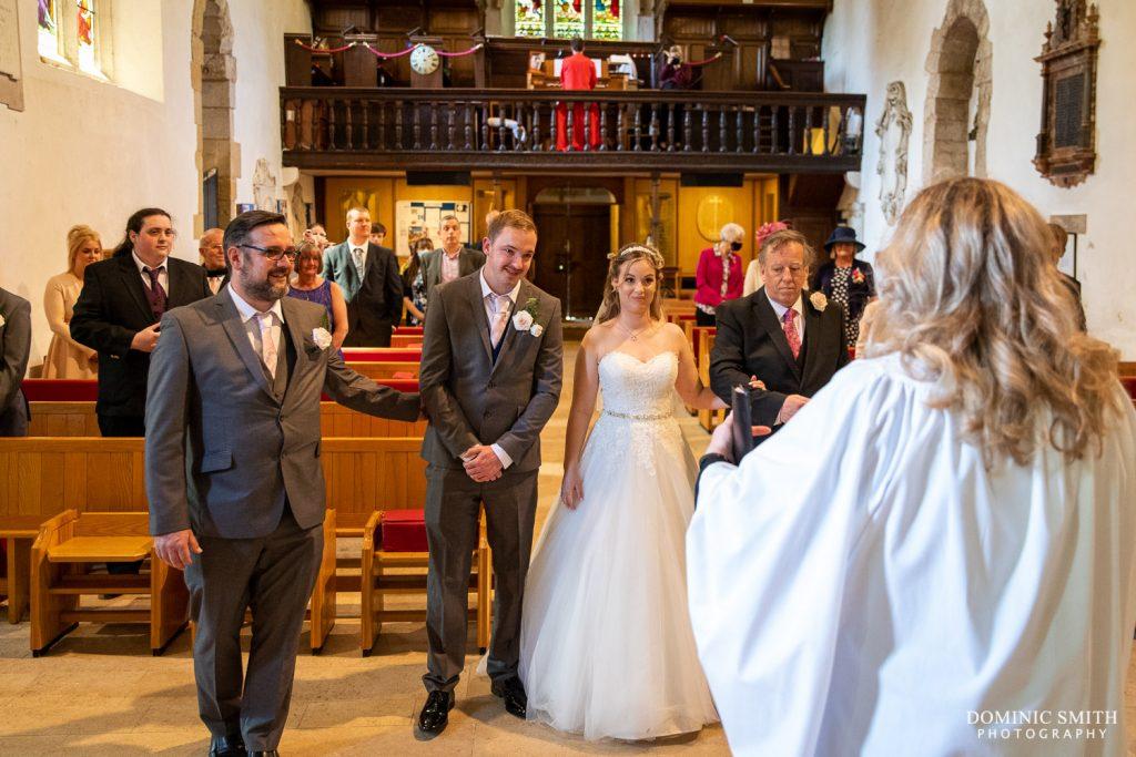Bride Walking Down the Aisle at Worth Church