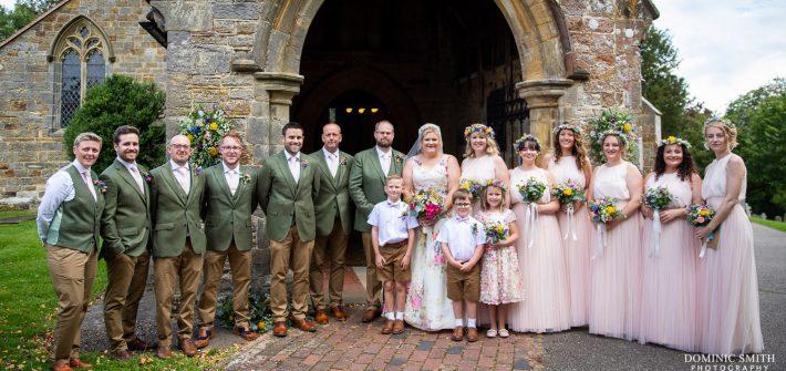 Bridal Party at St Bartholomews Church, Burwash