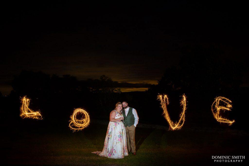 LOVE Sparkler Photo