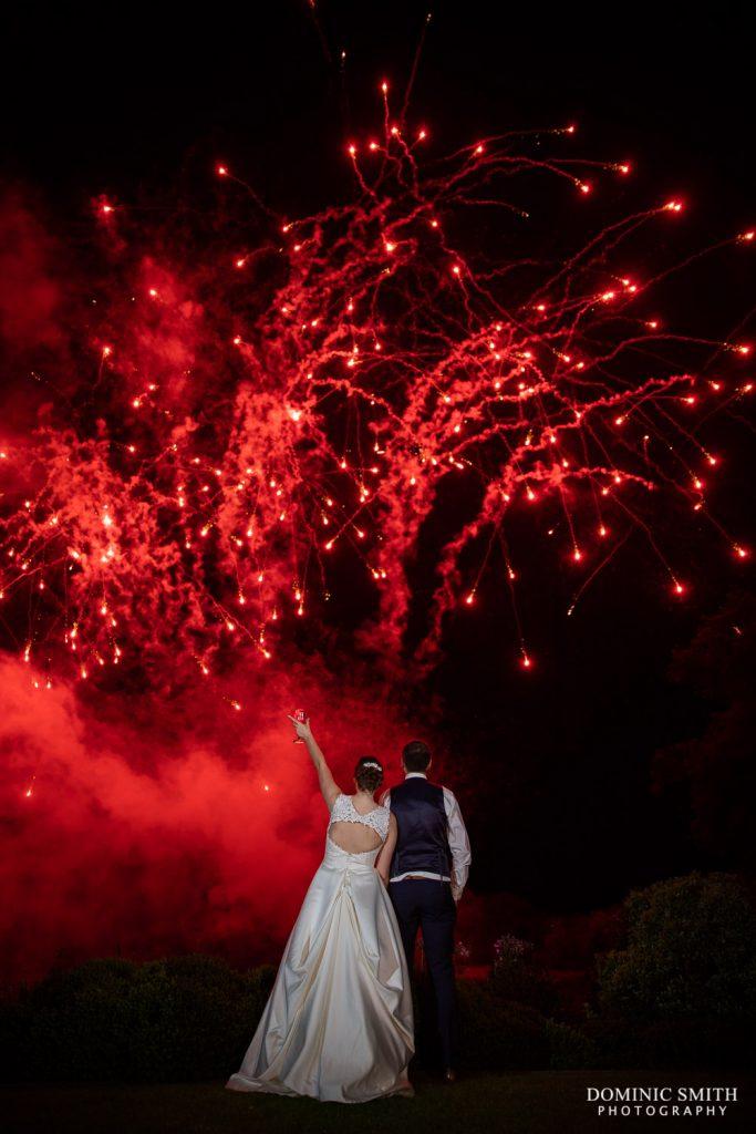 Wedding Fireworks at Reigate Hill Golf Club