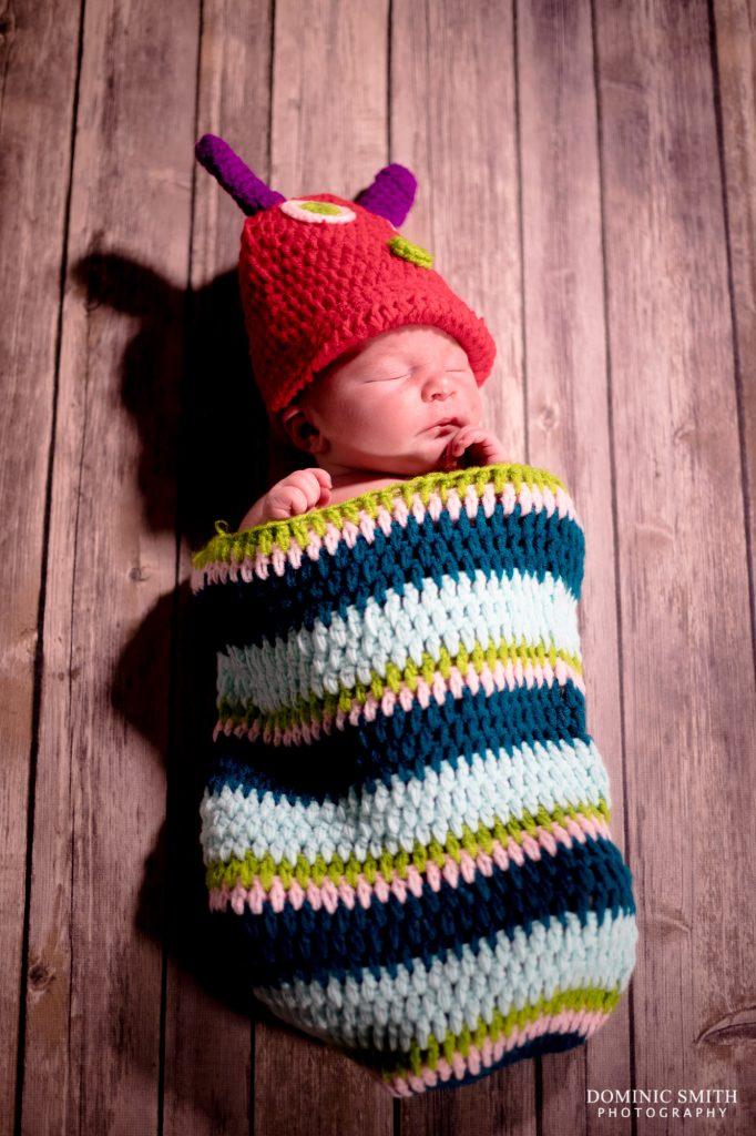 Newborn Photoshoot Caterpiller